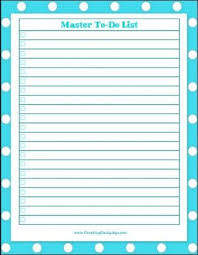 Pin By Sherry Russell On Master To Do List Printables Organization
