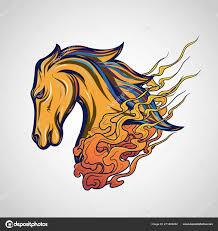 Koně Tetování Logo Vektorové Ikonu Obrázek Stock Vektor