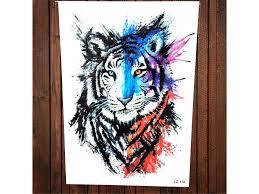 Voděodolné Dočasné Tetování Motiv Tygr Barevná