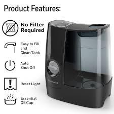 Vicks Warm Mist Humidifier Reset Light Honeywell Filter Free Warm Mist Humidifier Hwm845bwm Black