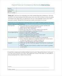 Parent Teacher Conference Form Template 9 Parent Teacher Conference Forms Free Sample Example