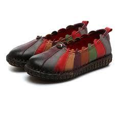 Socofy Size Chart Amazon Com Socofy Slip On Loafer Womens Rainbow Weave