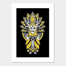 skullking black and gold mayan