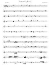 Listening to a recording of this piece before practicing it is recommended. Cold And Frosty Morning Violin Sheet Music Arranged By Katy Adelson Golden Aspen Music