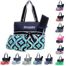 Monogrammed Quilted Bags, Duffles & Totes | GiftsHappenHere.com ... & Personalized Diaper Bag Quilted Baby Tote & Changing Pad Adamdwight.com