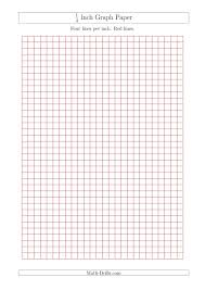 1 4 Grid Paper 1 4 Inch Graph Paper With Red Lines A4 Size Red