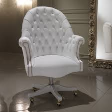 white leather office chair.  Chair Luxury Italian White Leather Executive Office Chair In