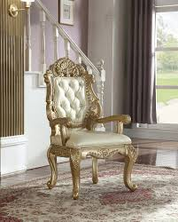 meridian furniture bennito arm chair in rich gold 703 ac set of 2