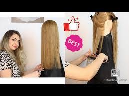 كيف اقص شعري في المنزل خطوة بخطوة : قص الشعر طول واحد ومتساوي بالبيت One Length Hair Cut At Home Youtube