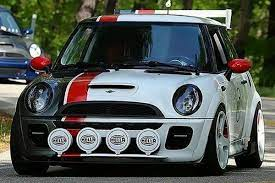 Spyder Mini Cooper With Factory Halogen Headlights 2002 Black Halo Projector Headlights With Parking Leds Projector Headlights Mini Cooper Custom Headlights