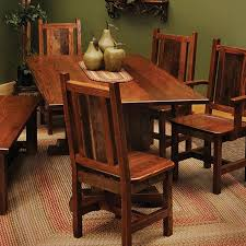 rustic dining room table and chairs