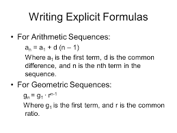 writing explicit formulas