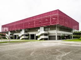 Gymnasium Exterior Design A Bioclimatic Gym In Abidjan By Koffi Diabate Architectes