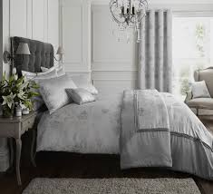 silver grey quilt duvet cover bedding bed set bed linen or cushion or curtains