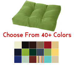 Brilliant Tufted Ottoman Cushion 21 X 17 Choose Your Color