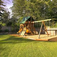 Landscape design can make a child's playground look very maintained.  Servicing the Fox Valley area in IL. To check out a complete list of our  servi
