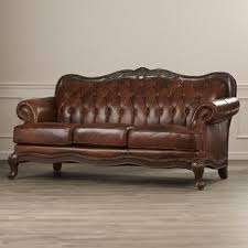 Smith Leather Sofa Antique Leather Sofa O27