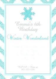 Snowflake Birthday Invitations Snowflake Party Invitation Template
