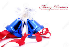 Uncategorized Red White And Blue Christmas blue christmas bell and red bow  ribon on white background