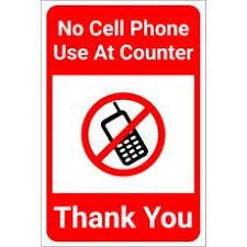 No Cell Phone Signs Dashsigns Com