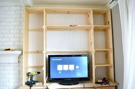 built in bookshelves shelves before extension measure bookshelf