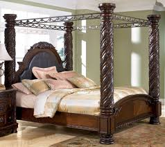 North Shore Ashley Furniture Bedroom Set North Shore King Size Poster Canopy Bed From Millennium By Ashley