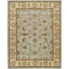 safavieh heritage blue beige wool 9 x 12 area rug