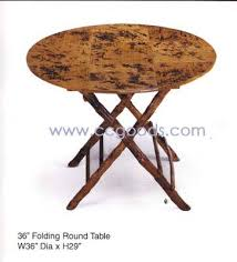 bamboo 36 folding round table image