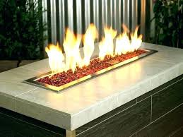 small outdoor gas fireplace propane fire pit glass rocks red