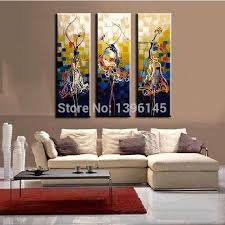 design collection art for your beautiful wall home decoration ideas free dancer painting series blue decorative pictures modern oil painting