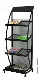 magazine rack office. Magazine Racks Office Furniture Home Commercial Iron Portable Bookcase Rack Can Customize New 48*38*135 Cm A
