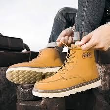 winter fashion man shoe england men martin boots korean style youth boy s worker boot short boots