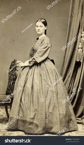 pioneer woman clothing. usa - connecticut circa 1864 a vintage cartes de visite photo of young pioneer woman clothing