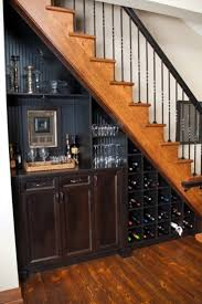 Featured, Mini Bar Cabinets Storage With Wine Racks Under Wooden Staircase  Design Ideas ~ Dainty Wine Storage under Stairs to Keep Your Wine Well