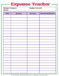 Keep Track Of Your Finances Cute Free Printable Expense Tracker To Add To Your Budget Binder