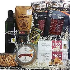 spanish gourmet food gift basket 4 bellota acorn fed chorizo sliced salchichon sliced