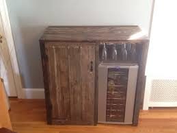 My First Pallet Project Rustic Liquor Cabinet With Built In