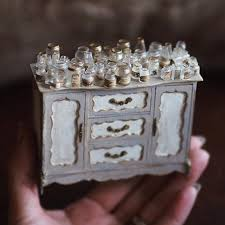 minature doll house furniture. Heck, She Even Put Teeny, Tiny Strawberries On Top Of Miniature Cakes Displayed A Stand. Minature Doll House Furniture U