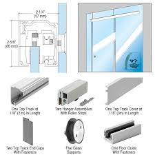 crl280 satin anodized series single sliding door glass fixed panel mount installation kit for 1 2 12 mm tempered glass