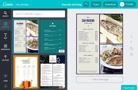 restaurant menu design app free and modern restaurant menu design templates