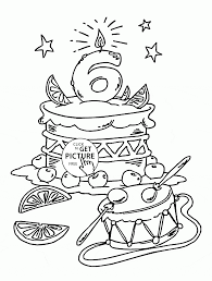 Happy 6th Birthday Coloring Page For