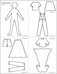 All the different clothes and styles give your kids a fun way to spend their time. Self Portrait Paper Doll Craft With Printable Templates Buggy And Buddy