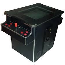 cocktail table arcade machine vertical black chrome