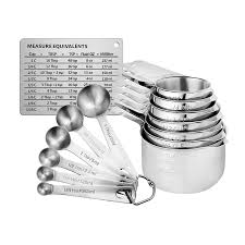 Stainless Steel Measuring Cups And Spoons Set Of 14