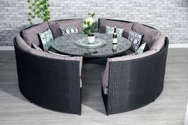 chelmsford 10 seater modular rattan dining garden furniture set table covers black outdoor round maxi kitchen cool rat