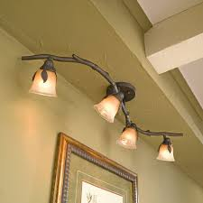 contemporary track light with decorative leaves ceiling track lighting