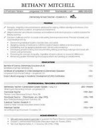 Cv For Teaching Great Teacher Resume Templates Best Teaching Cv Template Free