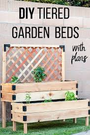 diy tiered raised garden bed full
