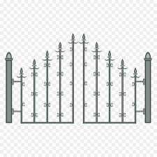 metal fence gate. Fence Gate Door - Ancient Spear Metal