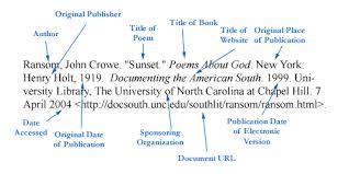 mla poem citation detailed mla citation for poem